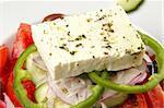Close up of a Greek Salad