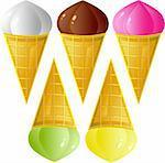 Ice-cream set, isolated on white, eps format