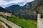 View down Sognefjorden, Norway