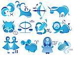 illustration icons of zodiac