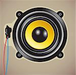 Vector illustration of detailed loud speaker