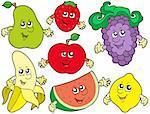 Cartoon collection fruits 2 - illustration vectorielle.
