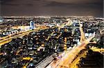 Night city, Tel Aviv at night, Israel