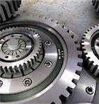 Beautiful gears from steel in the uniform mechanism