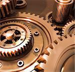 Beautiful gears from bronze in the uniform mechanism