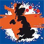 British Flag symbols vector illustration UK