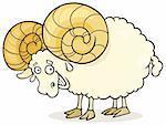 Cartoon illustration of zodiac aries