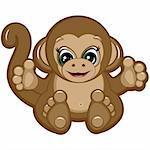 Little Monkey - one of the symbols of the Chinese horoscope