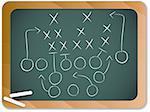 Vector - Teamwork Football Game Plan Strategy on Blackboard