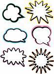 Stock Vector Illustration:  talk bubble-vector