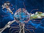 Hirnforschung, konzeptuellen Kunstwerk