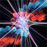 Nervenzelle und DNA, Kunstwerk