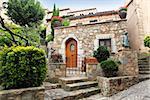 Mediterranean-style decorated patio