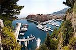 A landsacpe of a habor in Monaco, Monte Carlo