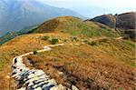 twisting mountain path