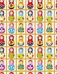 seamless Russian dolls pattern