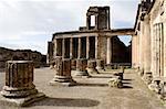 Ruins of the basilica, Pompeii (Italy)