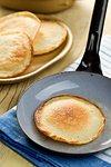the tasty pancake on pan