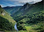 Tara river gorge in Montenegro mountains.