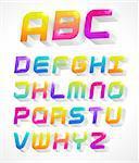 colorful 3d alphabet