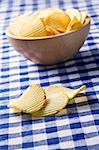 potato chips on kitchen table