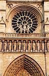 Detail of a famous cathedral Notre Dame, Paris
