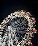 Wiener Riesenrad in Prater - oldest and biggest ferris wheel in Austria. Symbol of Vienna city at night