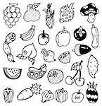 main dessiner des légumes