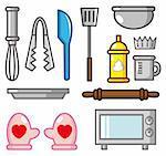 cartoon baking tool icon