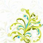 illustration of elegant floral pattern on abstract background