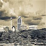 City scenery of skyline and buildings in Kuala Lumpur, Malaysia, Asia.