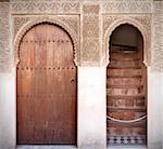 A couple of arab doors in the Alhambra in Granada, Spain
