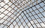 Glass roof on a blue sky