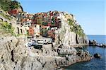 Italy. Cinque Terre region. Colorful Manarola village