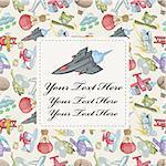 cartoon aircraft card