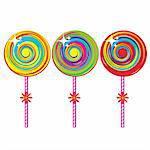 Set of colorful lollipops. Illustration on white background