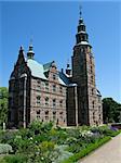 Rosenborg castle in copenhagen, a famous tourist attaction