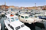 details boats in Rovinj marina, Istria, Croatia