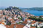 Dalmatian coast from the city of Sibenik Croatia