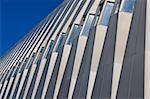 Fragment of modern building on blue sky background