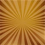 Vintage Sunburst Background, Vector Illustration