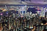 Hong Kong city at nightHong Kong city at night