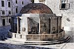 Big Onofrio's Fountain in Dubrovnik old town, Croatia