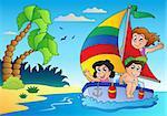 Summer theme image 5 - vector illustration.
