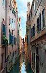 Nice summer venetian canal view (Venice, Italy)