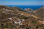 Farm Village in Mountains, near Delfini, Syros, Cyclades Islands, Greece