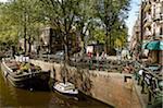 Houseboat Museum an der Prinsengracht, Amsterdam, Niederlande