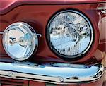Headlamps of classic car