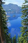 Phantom Ship, Crater Lake National Park, Summer, Oregon, United States