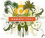 abstract floral design art vector illustration